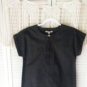 41 HAWTHORN Black Lace Up Tee Shirt Dress S